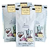 Coffee Masters Flavored Coffee, Sticky Toffee, Whole Bean, 12-Ounce Bags (Pack of 4)