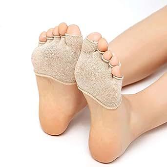 5足セット つま先 5本指 ソックス ヨガ用靴下 軽量 防臭 滑り止め フットカバー 通気性抜群 レディース 肌色