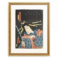 歌川 国貞 Utagawa Kunisada 「Sawamura Tanosuke III in a female role as Princess Takiyasha (from the series Toyokunis Manga Pictures). 1860」 額装アート作品