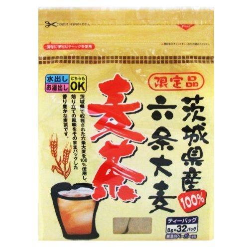 野村産業 のむらの茶園 茨城県産 六条大麦麦茶 8g×32P