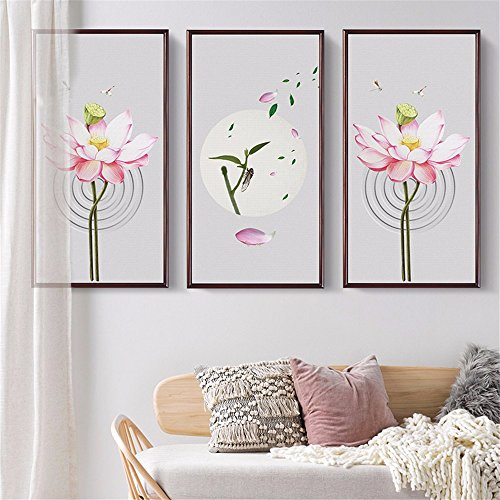 GOUZI Modern decorated with flowers on the frame of the sofa bed background decorations stickers are self-adhesive ,110*50CM Removable wall sticker For Bedroom Living Room Background Wall Bathroom Study Barber Shop