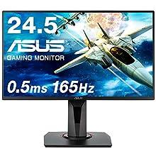 ASUS ゲーミング モニター ディスプレイ VG258QR 24.5インチ/0.5ms/165Hz/G-SYNC Compatible/AMD FreeSync/フルHD/HDMI/DVI-D/DP