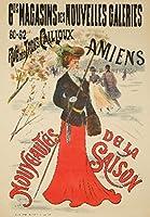 Magasins de nouvelles Galeriesヴィンテージポスター(アーティスト: Tournon )フランスC。1899 12 x 18 Art Print LANT-62053-12x18