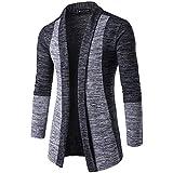 メンズ カーディガン KLUMA カーディガン ジャケット メンズ ストレッチ 着回し 前開き ボタンなし ニット 細身 長袖 ショールカーディガン ニットセーター 3色から選べる