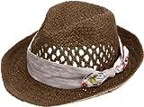 (カシュネ)cache nez コンビトリミング中折れ帽 02-03-08620 BR ブラウン F