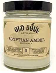 Egyptian Amber Scented Vegan Jar Soy Candle - 9 oz [並行輸入品]