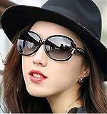 Aharan9(アハランナイン) レディース 大きいフレーム サングラス メガネケース付き 小顔効果 UV400 紫外線