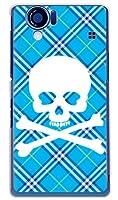 SECOND SKIN スカルパンク ブルー (クリア) / for AQUOS PHONE 102SH II/SoftBank SSH122-PCCL-201-Y217