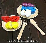 木のおもちゃ ままごと 食器4点セット お皿 スプーン フォーク 木製 セット ごっこ遊び 画像