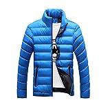 Arpcel (アープセル) メンズ ダウン風 中綿 スリム ジャケット 黒 紺 青 (M L XL 2XL 3XL 4XL) (3XL, ブルー)