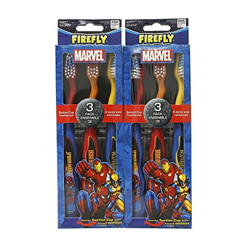 リスト正午荒涼としたFirefly Marvel Soft Toothbrush, 6 Count (2 Packs of 3 Each) by Firefly