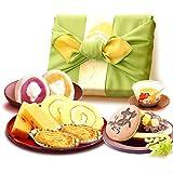 誕生日 の プレゼント 人気商品 おいもや ケーキ洋菓子 お菓子 食べ物 お祝いギフト ギフトセット (みどり色風呂敷)