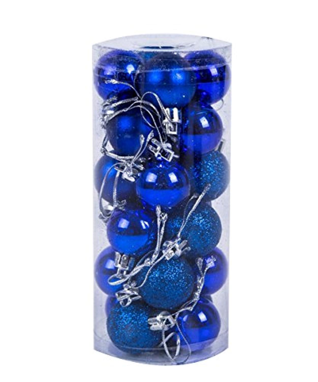 Shellme クリスマスボール ライトボール プラスチッククリスマスボール オーナメント ツリー飾り パーティー お祝い 飾りボール 24個セット 6cm カラーボール デコレーション クリスマス飾り おもちゃ 雰囲気満点 無地 選べる11色