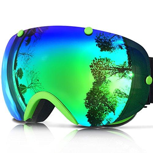 ZIONOR Lagopus XA ゴーグル スノーボード スキー ダブルレンズ 全面 UVカット (メンズ/レディース兼用) アンチフォグ 球面レンズ スケート スキー ゴーグル