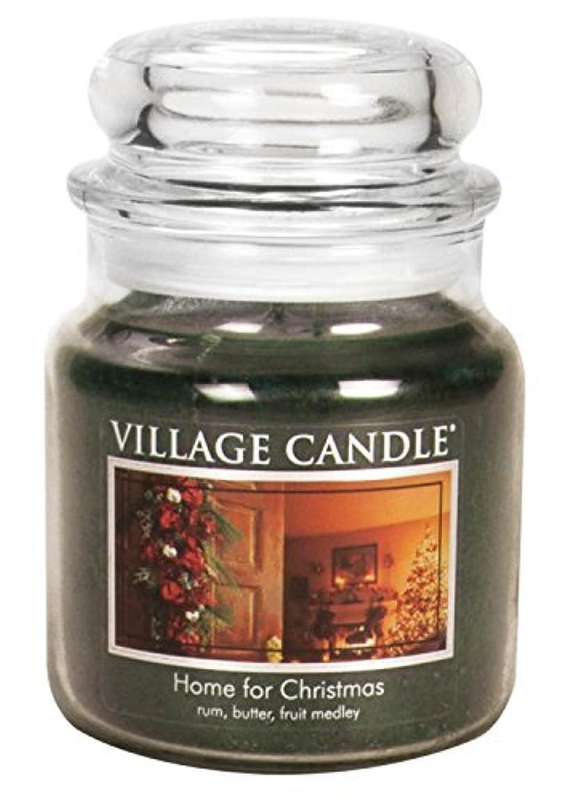 ジェームズダイソン国巧みなVillage Candle Home for Christmas 16 oz Glass Jar Scented Candle%???% Medium [並行輸入品]