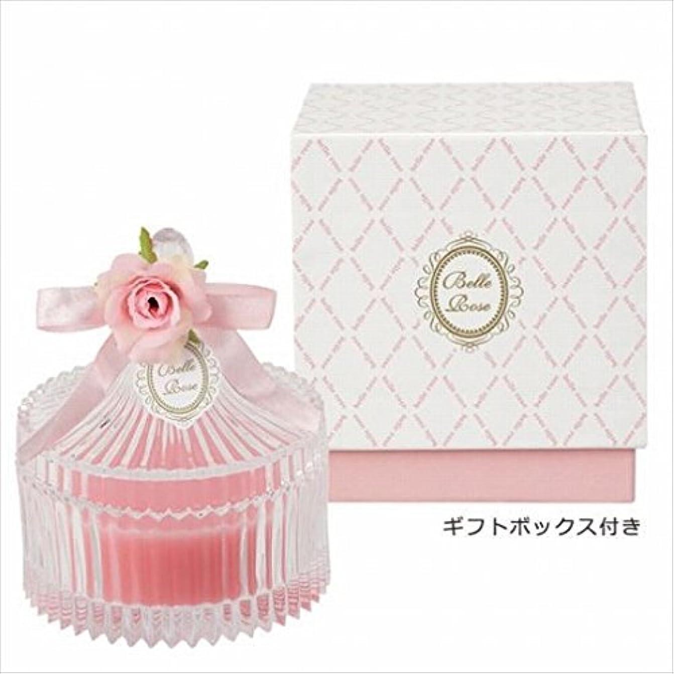 干し草電球カニカメヤマキャンドル( kameyama candle ) ベルローズキャニスター 「 ピンク 」 キャンドル