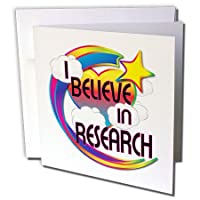 Dooni Designs – Believe Inビリーブインドリーミービリーフデザイン – I Believe In Researchキュートデザイン – グリーティングカード Set of 12 Greeting Cards