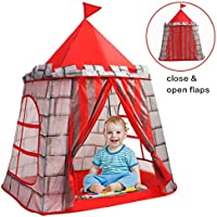 Yoobe プリンスお城テント 折りたたみ式ポップアッププレイテント/ハウス インドア&アウトドア用