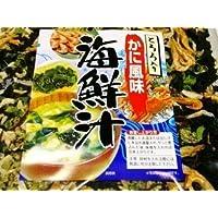 【送料込】 お味噌汁約40杯分 とろろ入りかに風味海鮮汁 90g お手軽に本格海鮮汁ができます!海鮮汁の具