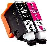 【Angelshop】KAM-(BK/M)-L ブラック1本/マゼンタ1本 合計2本セット EPSON(エプソン) 互換インクカートリッジ 【カメ】 残量表示機能付 ICチップあり【安心の1年保証】