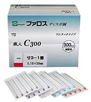 ファロス ディスポ鍼 職人C300 寸3 (39mm) - 1番 (0.16mm) 300本入