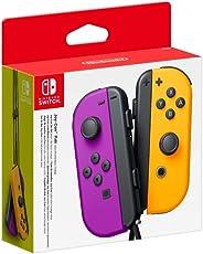 Nintendo Switch Joy Con Neon Purple and Neon Orange Pair