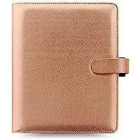 Filofax Saffiano A5 Size PU-Leather Organizer Agenda Calendar with DiLoro Jot Pad Refills (A5 Rose Gold 2017 022572) [並行輸入品]