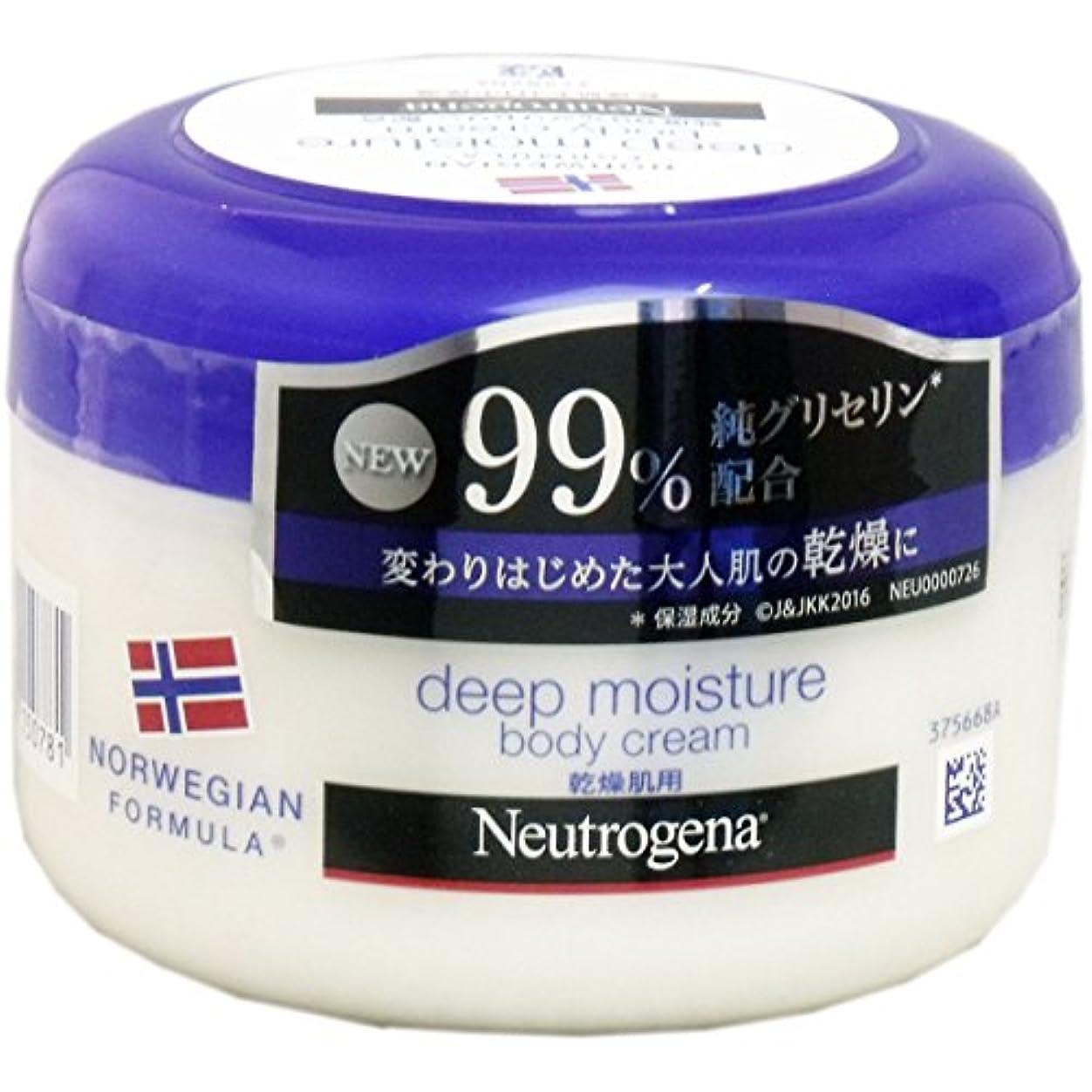 良心がっかりした艦隊【まとめ買い】Neutrogena(ニュートロジーナ) ノルウェーフォーミュラ ディープモイスチャー ボディクリーム 乾燥肌用 微香性 200ml×3個