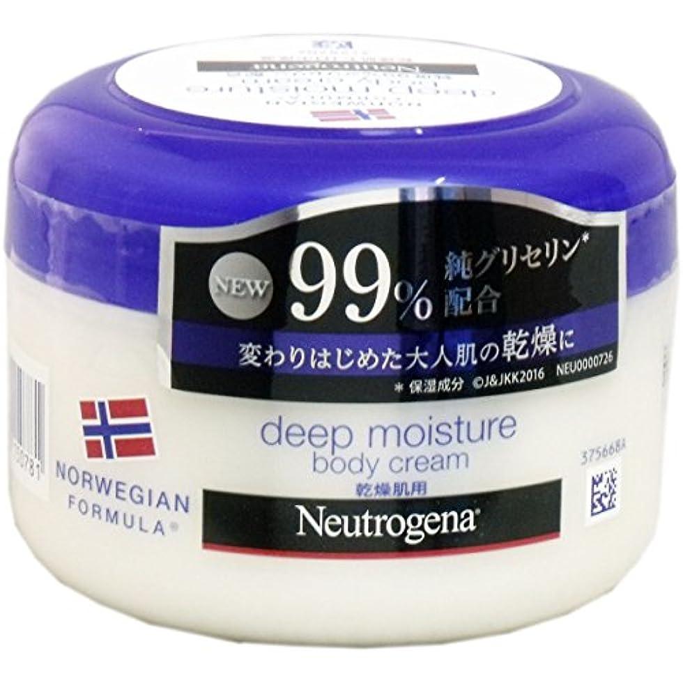 非行トランスペアレントメニュー【まとめ買い】Neutrogena(ニュートロジーナ) ノルウェーフォーミュラ ディープモイスチャー ボディクリーム 乾燥肌用 微香性 200ml×3個