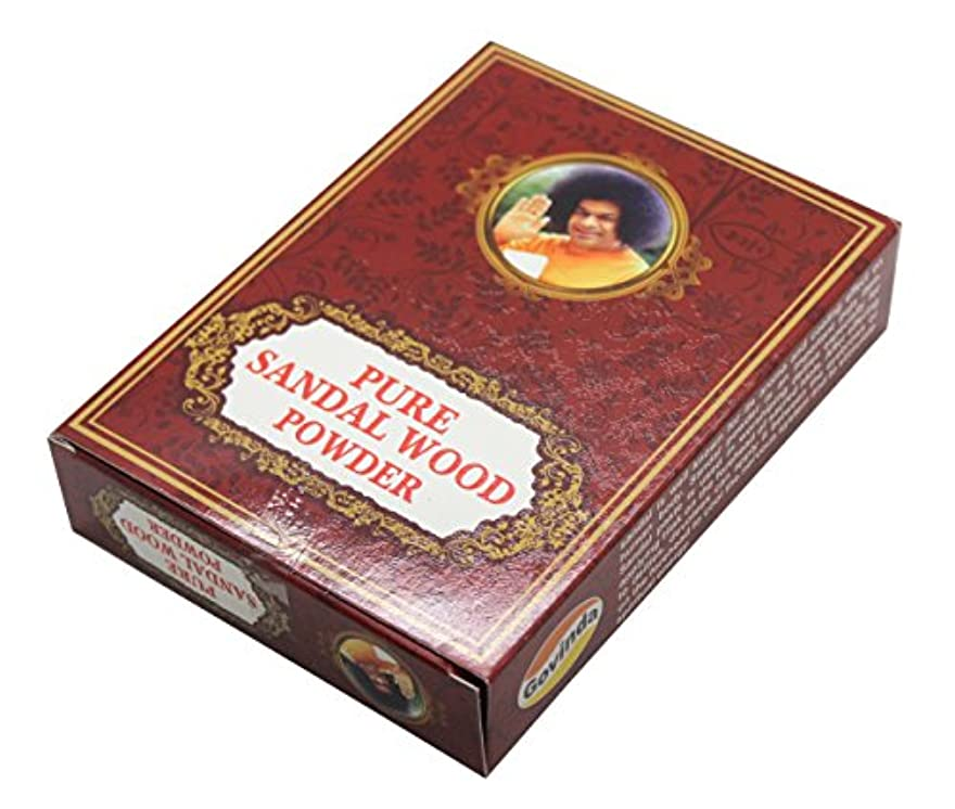 フリンジスロットクリップ蝶Govinda - Pure Sandalwood Powder - 100 Grammes