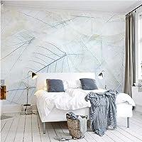 Weaeo ヨーロッパスタイルの葉は、3D抽象的な壁紙の葉カラフルな壁画ソファテレビの背景写真の壁紙お問い合わせWallcoverings-450X300Cm