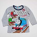 きかんしゃトーマス 長袖Tシャツ (643TM4021) (100cm, 杢グレー)