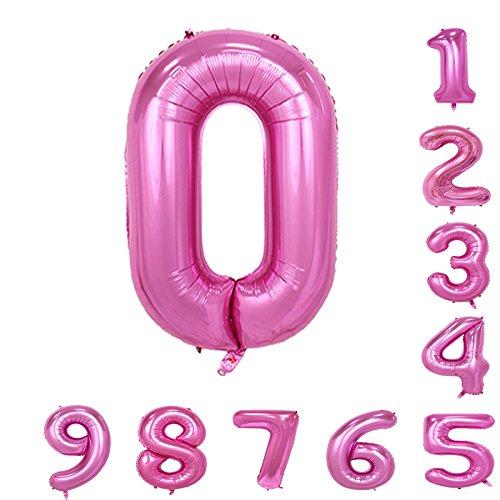 [해외]Gold treasure 40 인치 헬륨 풍선 핑크의 숫자 (0-9) 생일 파티 아라비아 숫자 장식/Gold treasure 40-inch Helium balloon Pink number (0-9) Arabic numeral decoration for birthday party