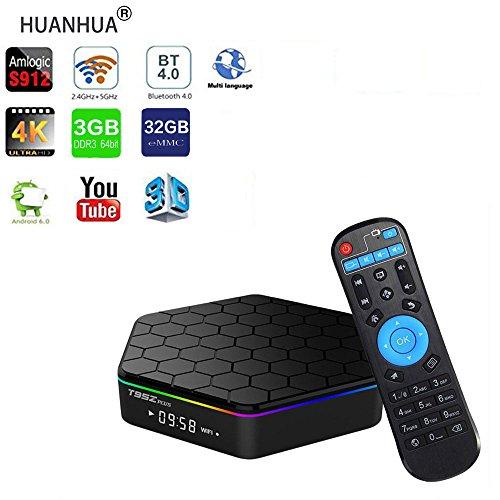 [해외]TV Box3GB + 32GB T95Z Plus Smart 4K TV 상자 Android 7.1 TV 박스 Amlogic S912 Octa Cora TV 튜너 Bluetooth 4.0 셋톱 박스는 Wi-Fi 3D 4K HD TV를 지원합니다 (3GB + 32GB)/TV Box 3GB + 32GB T95Z Plus Smart 4K TV Box Android 7.1 TV Box Aml...