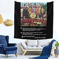 ビートルズ - SGT PEPPER 8 TRACK タペストリー Tapestry 壁掛け ポスター 壁掛けタペストリー 壁飾り 壁掛け布 家 リビングルーム ベッドルーム 部屋 おしゃれ飾り 部屋 窓カーテン 個性ギフト 新居祝い 59inch*59inch