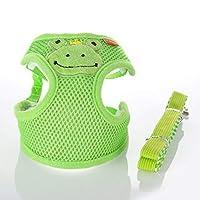 LoveIyPet ペット用チェストストラップペット用チェストストラップ/子犬用チェストバックトラクション夏用通気性メッシュチェストバック小動物シリーズうさぎ (Color : Green, Size : M)