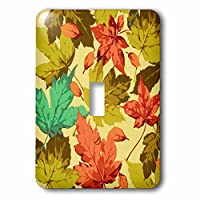 3drose LSP _ 60489 _ 1 Colorful Autumn Leaves Closeup Single切り替えスイッチ