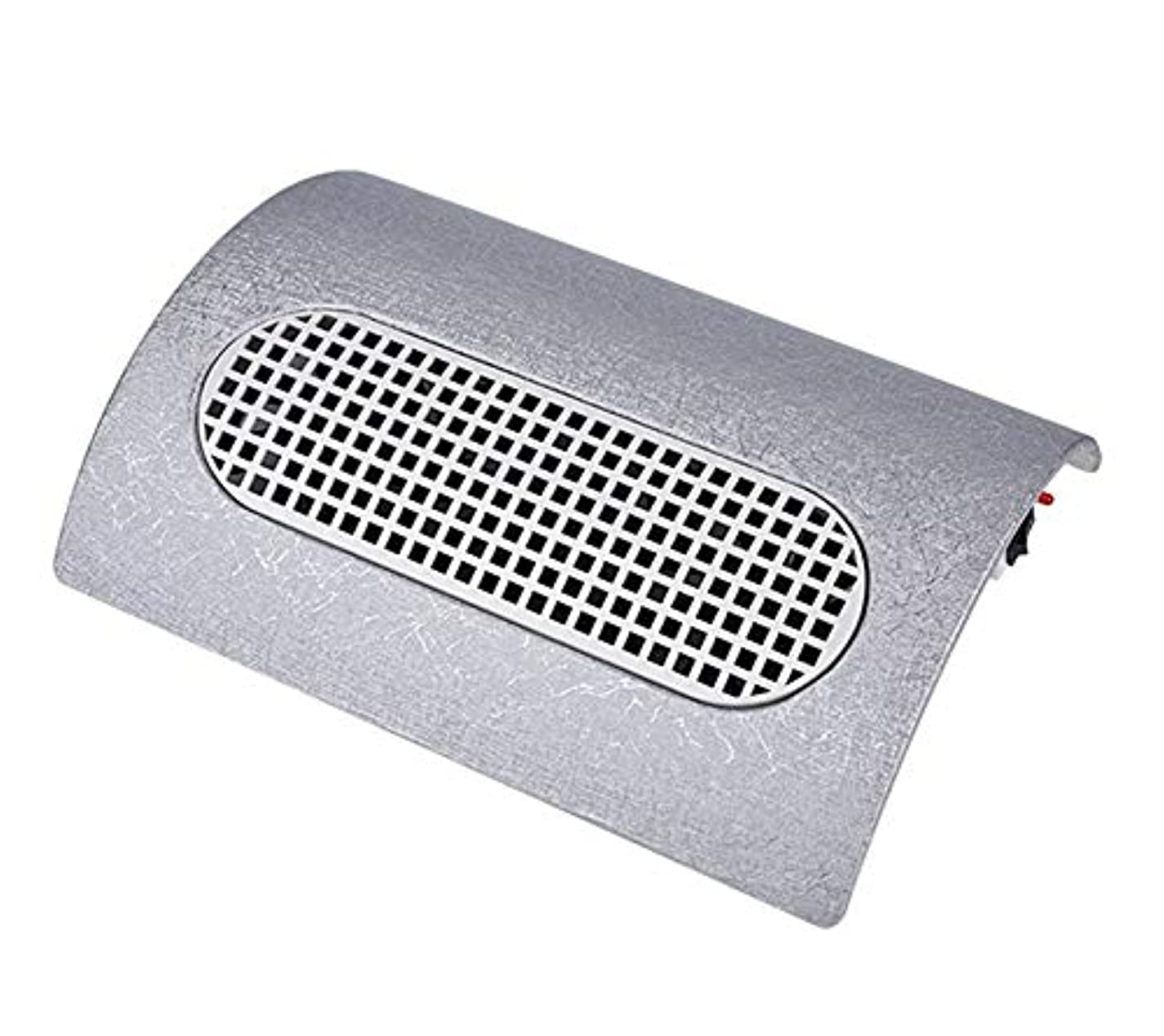 姿勢無力発音するネイルアートダストサクションコレクターネイル掃除機強力な3ファンクリーナーマニキュアツール2個取り替えダストCollectingbags