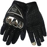 AXIO オートバイ グローブ 手袋 バイクグローブ 快適 滑り止め スマートフォン対応 男女使用可能 耐用性 運動用 防護手袋 防水防風 防寒手袋 (XL, ブラック)