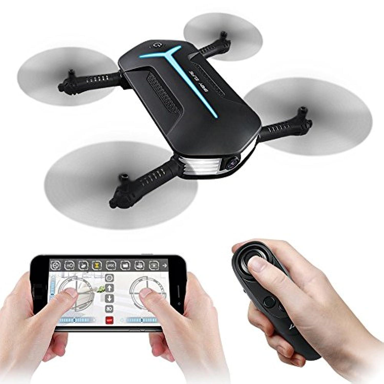 WiFi FPVカメラドローン、REDPAWZ H37 720P HDカメラ重力コントローラ付きベビーエルフィードローン子供レスポンスヘッドレスモードRCクアドコプター