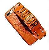 エルメス 通販 [JADIOR] iphone8 ケース iphone7 / plus カバー 指紋防止 PUレザー 薄型 軽量 落下防止 おしゃれ 選べるカラー 耐衝撃 (iphone7/8plus, 茶)