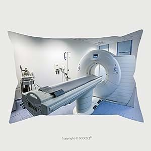 カスタムコットンリネン枕カバープロテクターCT CTスキャナで病院Laboratory 204885118枕ケースカバー装飾用 13L x 18W Inch MMBZH004330K45.72xG33.02