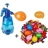 水風船 水爆弾 300個 +簡単ポンプ付きセット マジックバルーン 水遊び 大量 子供 大人 おもちゃ一気に作れる水風船 夏祭り イベント用品 子供のお誕生日プレゼント 色:ランダム
