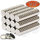 GogoTool マグネット ネオジウム 10mm×2mm 丸型 薄型 磁石 地図やホワイトボード 冷蔵庫に最適 (60個入)