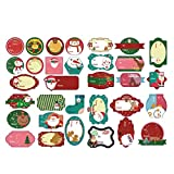 6 Sets Christmas Gift Tag Stickers Self Adhesive Xmas Name Tag Stickers Santa Reindeer Holiday Gift Sealing Stickers Elise
