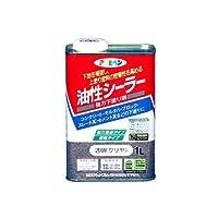 アサヒペン 油性シーラー 1L 透明(クリヤ) 【まとめ買い3缶セット】
