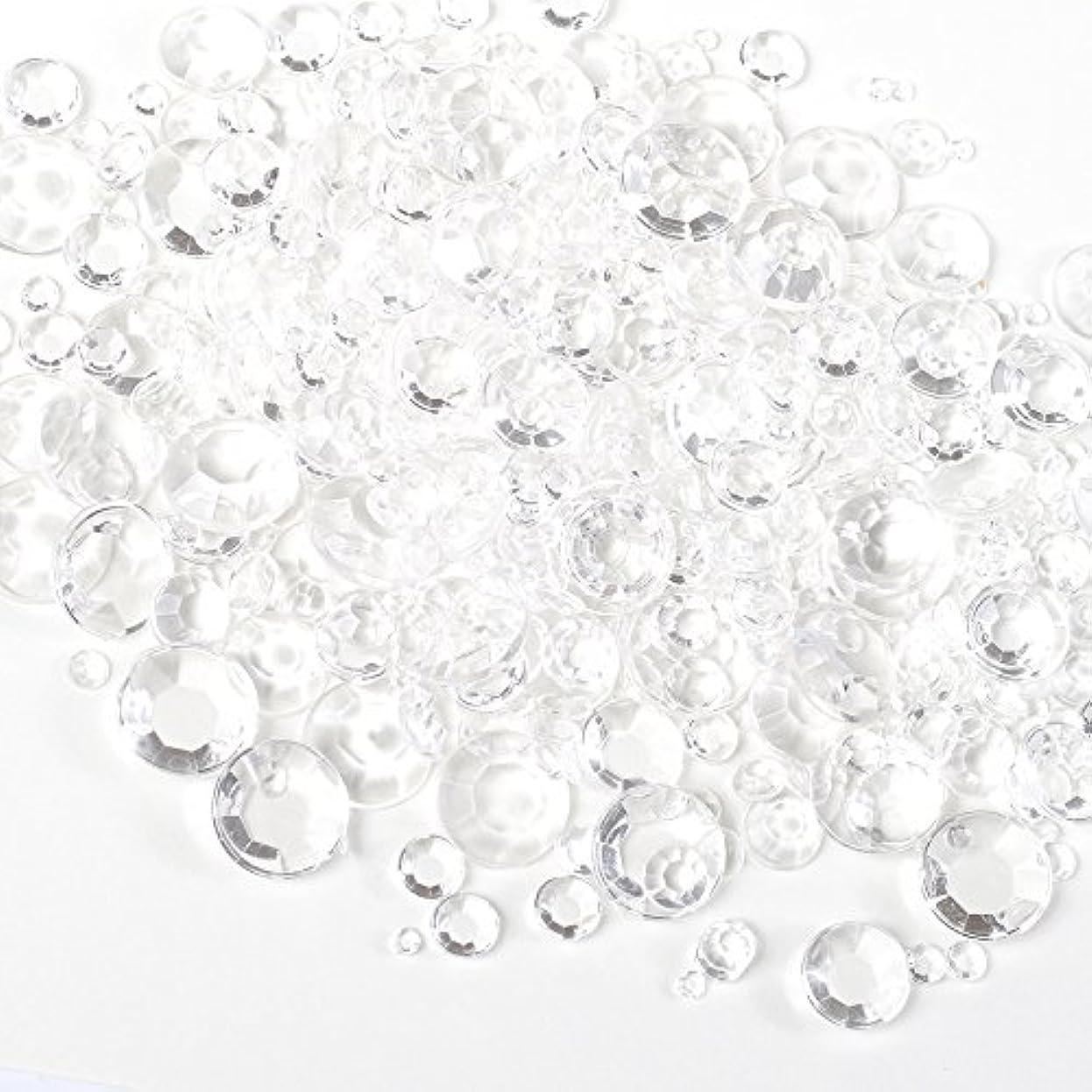 賛辞原子ハドルサイズ ミックス (全透明) スケルトン ラインストーン 約5g クリア アンホイル 【ラインストーン77】