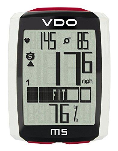VDO(バーディオー) M5WL デジタルワイヤレス通信 ドイツブランド サイクルコンピューター 大画面表示 スピード+時間+距離+温度計+心拍数+カロリー消費+ケイデンス+バックライト機能付 ポルシェやメルセデスのスピードメーターを製造しているメーカーのサイクルコンピューター 85905-0099