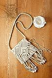 (シカ) Cika バッグ 鞄 ショルダー ニット 編み 綿 コットン 斜め掛け 肩掛け フリンジ タッセル ボヘミアン エスニック トレンド 海 ビーチ ネイティブ クロシェ編み風ショルダーバッグ ホワイト