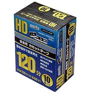 磁気研究所 カセットテープ 120分(片面60分) 10本パック